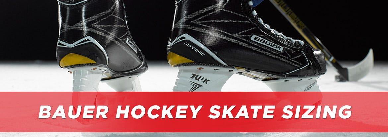 Bauer Skate Sizing Chart | HockeyMonkey.com