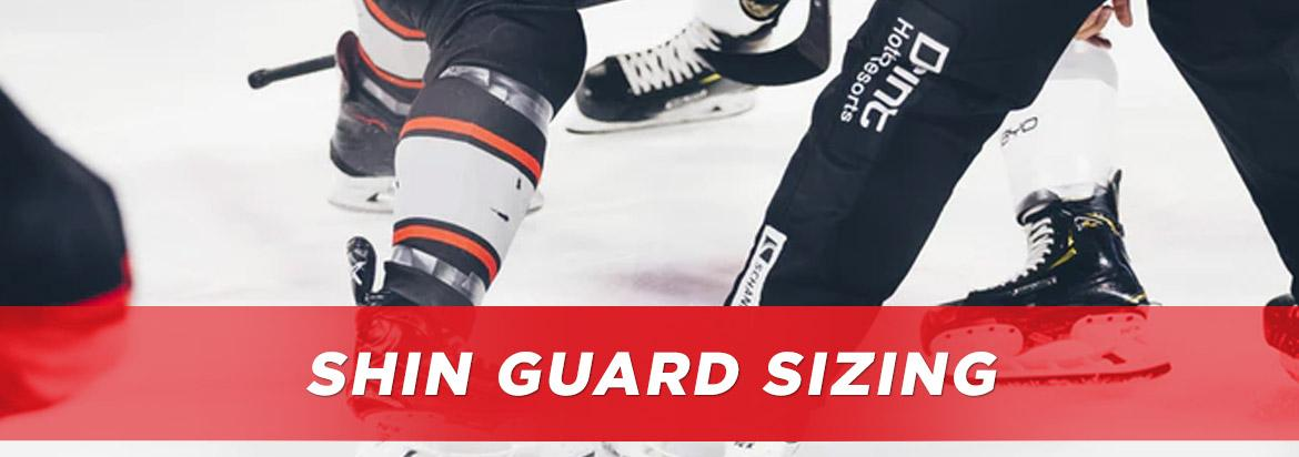 hockey shin guard sizing