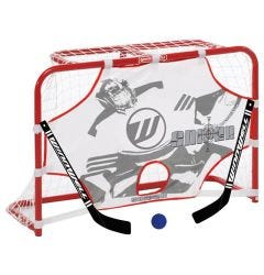 Winnwell Mini Hockey Net Set w/ 2 Sticks, Ball, and Target