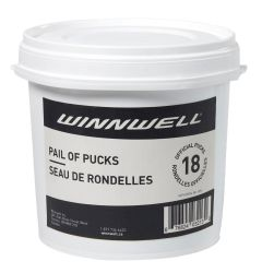Winnwell Ice Hockey Puck Pail - 18 Pack