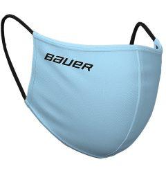 Bauer Reversible Fabric Face Mask -  Blue/Plaid