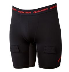 Bauer Essential Compression Senior Jock Shorts w/ Velcro Tabs