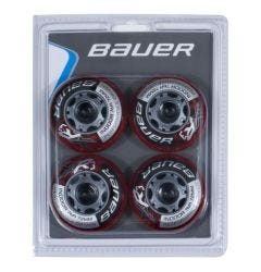 Bauer XR3 Indoor 76A Roller Hockey Wheel - Red - 4 Pack