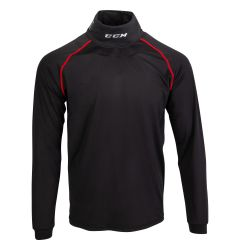 CCM Senior Athletic Fit Long Sleeve Shirt W/Integrated Neck Protection