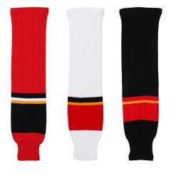 Calgary Flames Dogree Knit Hockey Socks