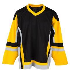 Stadium Adult Hockey Jersey - Black/Gold/Gray