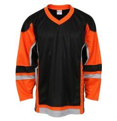 Stadium Adult Hockey Jersey - Black/Orange/Gray