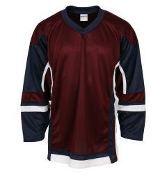 Stadium Youth Hockey Jersey - Maroon/Navy/White