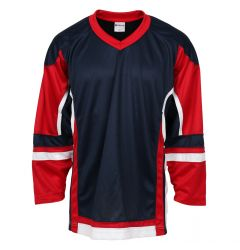 Stadium Youth Hockey Jersey - Navy/Red/White