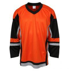 Stadium Youth Hockey Jersey - Orange/Black/Gray