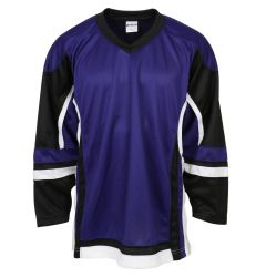 Stadium Youth Hockey Jersey - Purple/Black/White