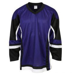 Stadium Adult Hockey Jersey - Purple/Black/White