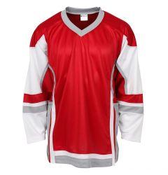 Stadium Adult Hockey Jersey - Red/White/Gray