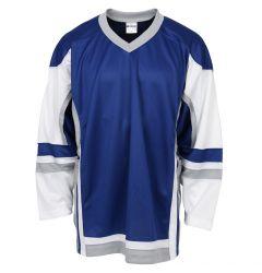 Stadium Youth Hockey Jersey - Royal/White/Gray
