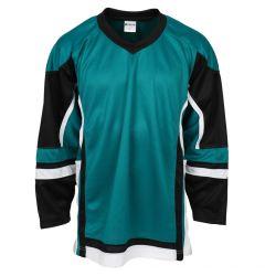 Stadium Youth Hockey Jersey - Teal/Black/White
