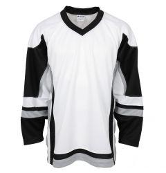 Stadium Adult Hockey Jersey - White/Black/Gray