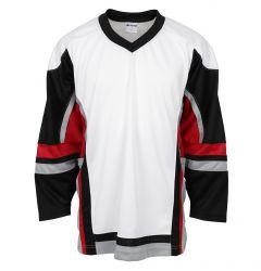 Stadium Adult Hockey Jersey - White/Black/Red
