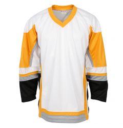 Stadium Youth Hockey Jersey - White/Gold/Gray