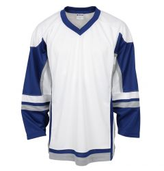 Stadium Adult Hockey Jersey - White/Royal/Gray