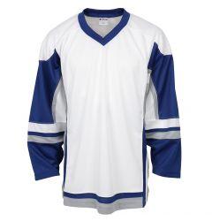 Stadium Youth Hockey Jersey - White/Royal/Gray