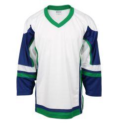 Stadium Youth Hockey Jersey - White/Royal/Kelly