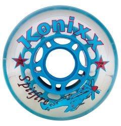 Konixx Spitfire 78A Roller Hockey Wheel - Clear/Blue
