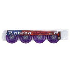 Labeda Addiction Grip 76A Roller Hockey Wheel - Purple - 4 Pack