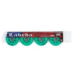 Labeda Addiction Grip 76A Roller Hockey Wheel - Teal - 4 Pack