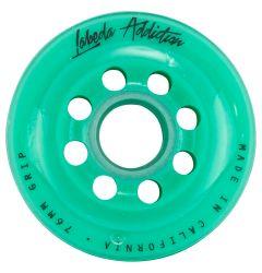 Labeda Addiction Grip 76A Roller Hockey Wheel - Teal