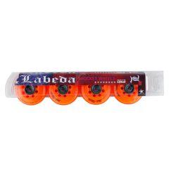 Labeda Addiction Grip+ 78A Roller Hockey Wheel - Orange - 4 Pack