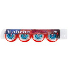 Labeda Gripper X-Soft 74A Roller Hockey Wheel - Red - 4 Pack