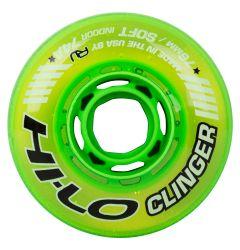 Mission Hi-Lo Clinger X-Soft Indoor 74A Roller Hockey Wheel - Green