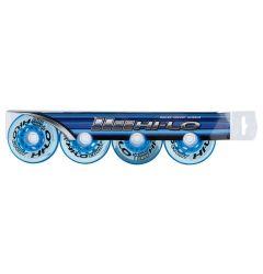 Mission Hi-Lo Court Indoor Soft 76A Roller Hockey Wheel - Blue - 4 Pack