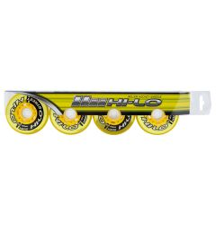 Mission Hi-Lo Street Outdoor Hard 82A Roller Hockey Wheel - Yellow - 4 Pack