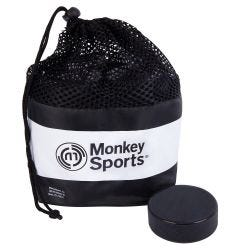 Monkey Sports Official Ice Hockey Puck - 24 Pack