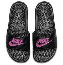 Nike Benassi JDI Women's Slide Sandals - Black/Vivid Pink/Black