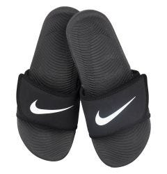 Nike Kawa Adjust Boy's Slide Sandals - Black/White