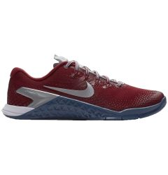 Nike Metcon 4 Women's Premium Training Shoes - Gym Red/Metallic Silver/Gym Blue/White