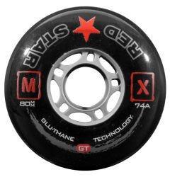 Red Star MX GT 74A Roller Hockey Wheel - Black