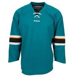 San Jose Sharks Reebok Edge Uncrested Junior Hockey Jersey