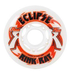Rink Rat Eclipse Indoor 76A Roller Hockey Wheel - White/Red