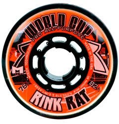 Rink Rat World Cup 82A Roller Hockey Wheel - Orange/Black