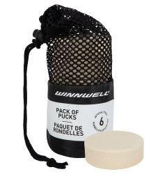 Winnwell White Goalie Training Puck - 6 Pack