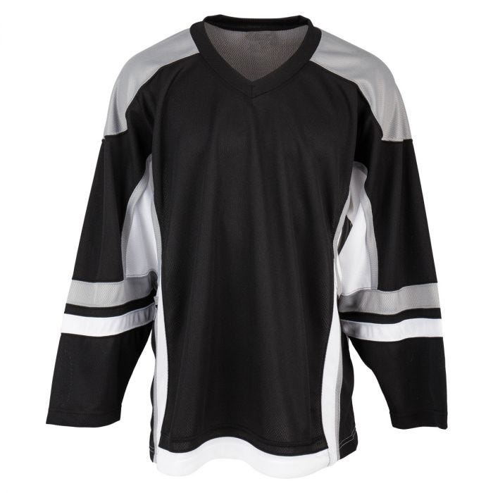 black hockey jersey