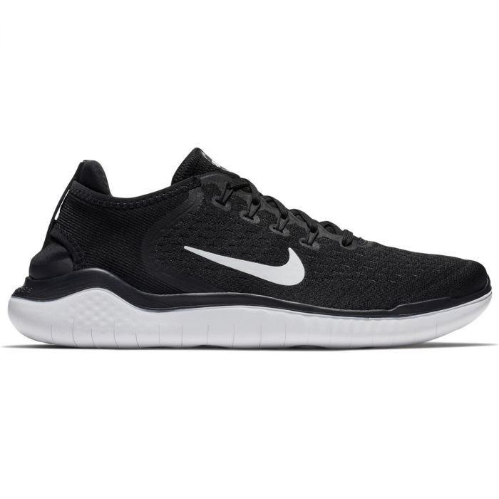Nike Free RN 2018 Men's Running Shoes - Black/White