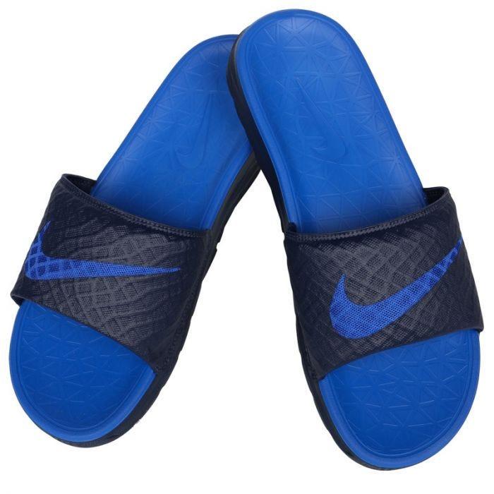 Suyo tierra Mediar  Nike Benassi Solarsoft 2 Slide Sandals - Midnight/Lyon Blue