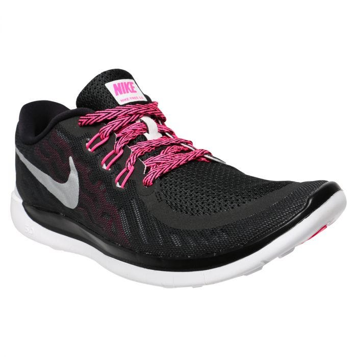 admirar casado Comunismo  Nike Free 5.0 Youth Training Shoes - Black/Pink