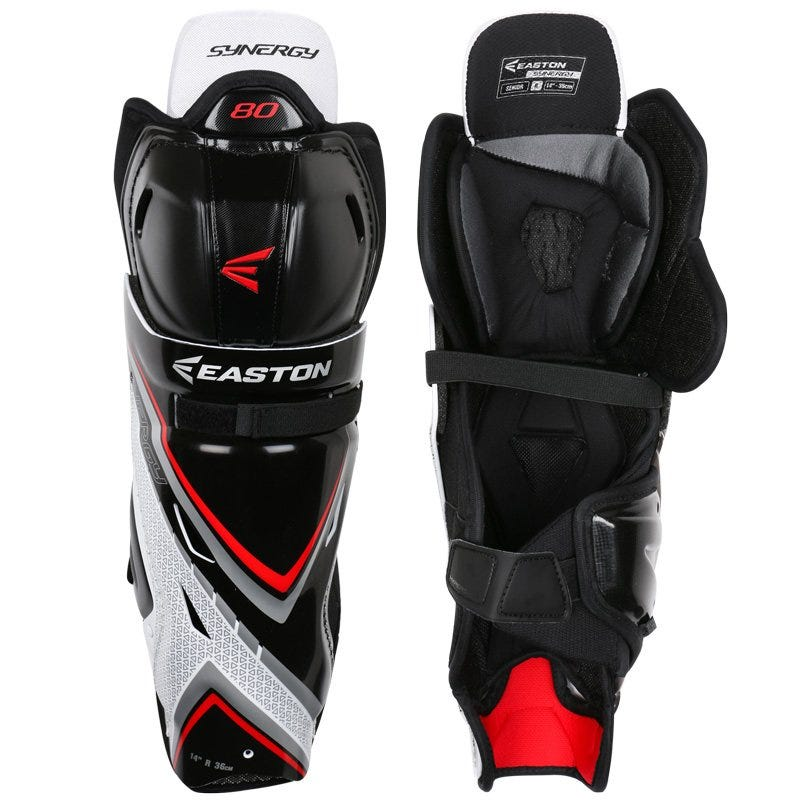 Image of Junior Easton Hockey Shin Guard Synergy 80 in Small; Adult