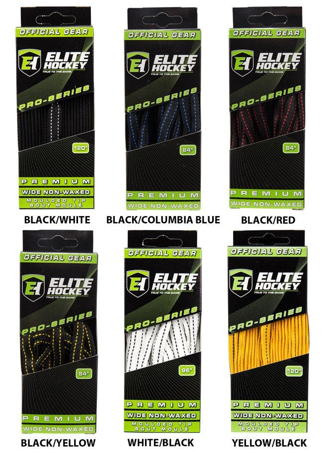 Elite Pro-Series Premium Wide NON-WAXED Molded Tip Laces