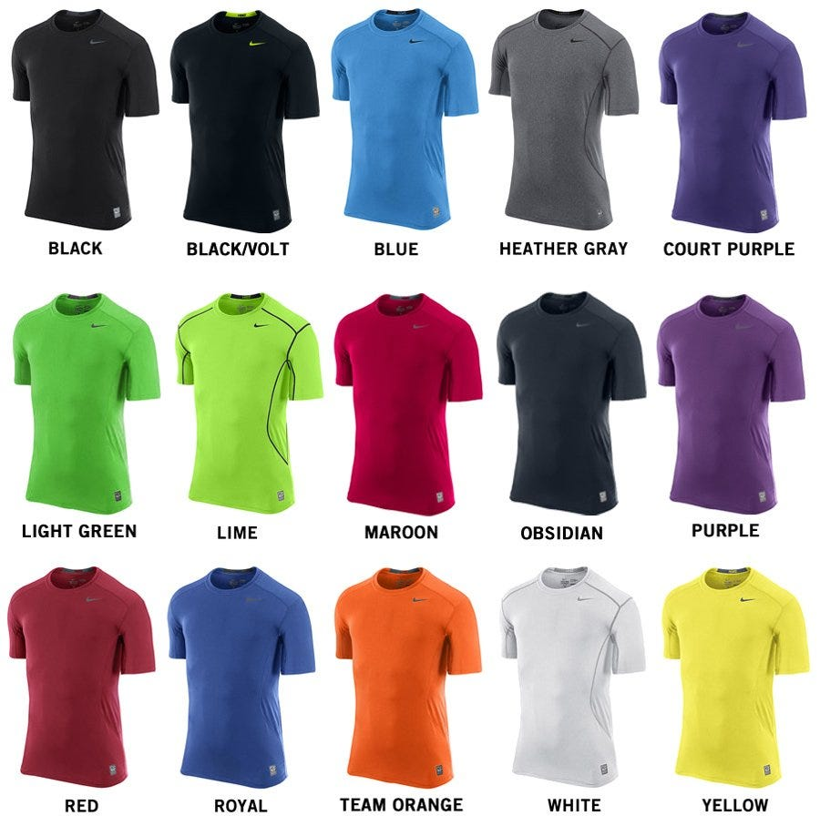 Nike Pro Combat Core Fitted 2.0 Adult Short Sleeve Shirt